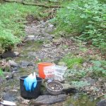 Stream sediment sampling: screening of the fraction < 2mm