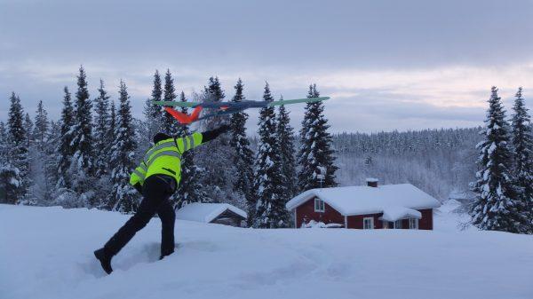 Field test of EM drone prototype system